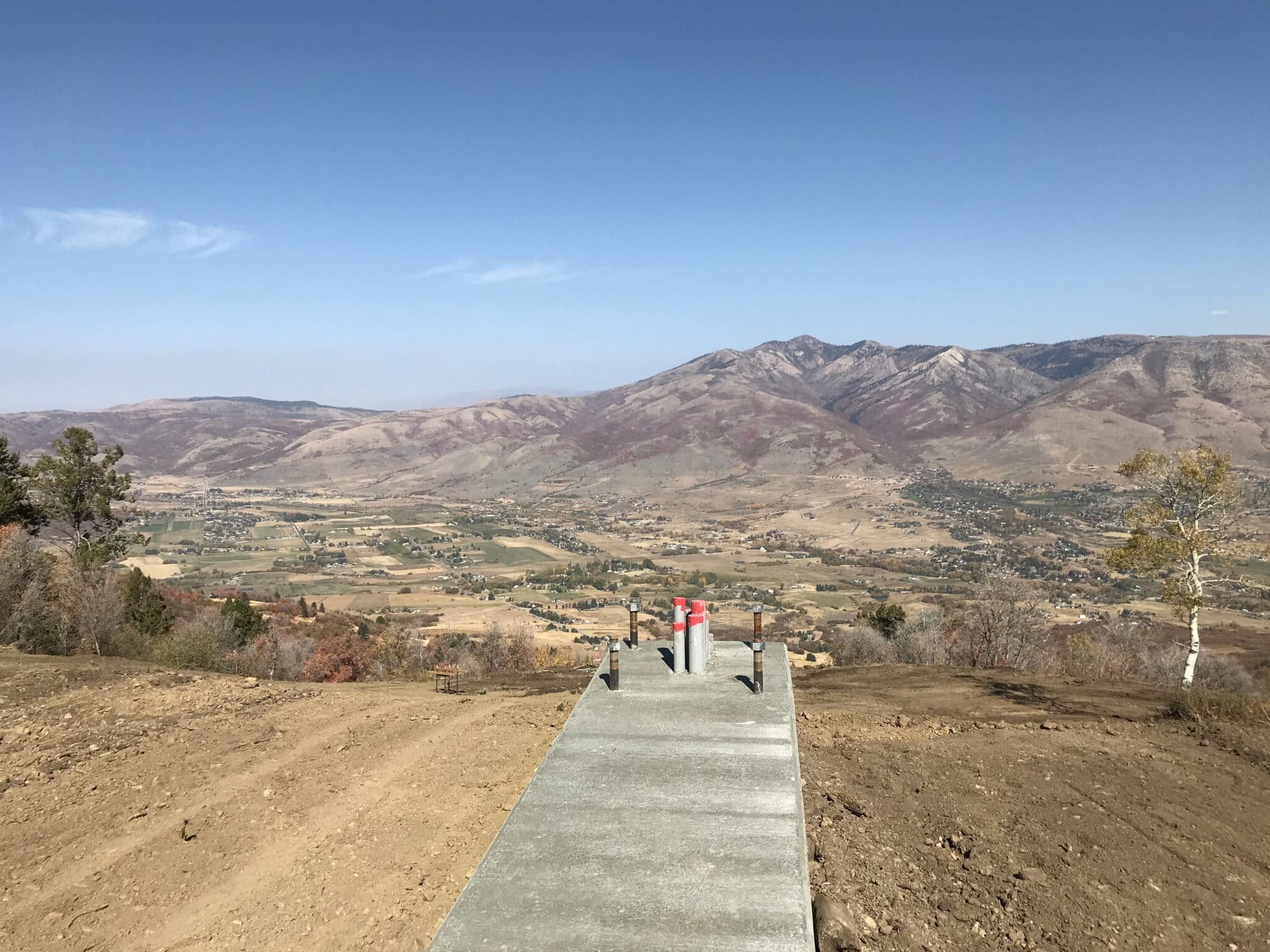 View from the top of new lift
