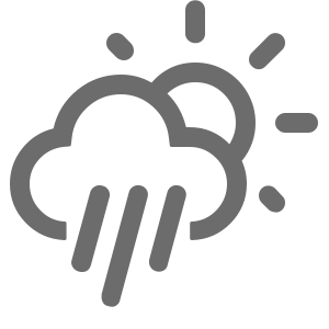 Mostly Sunny then Chance Showers icon