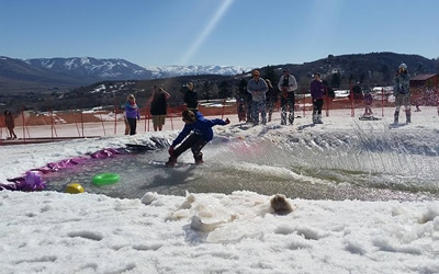 nordic valley pond skimming contest events things to do spring fun family