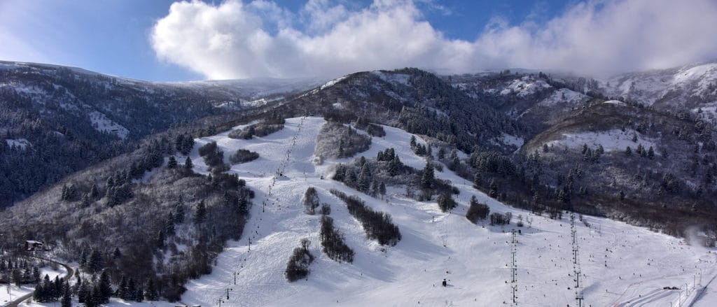 Nordic Valley snow report image arial photo mountain family ski Utah