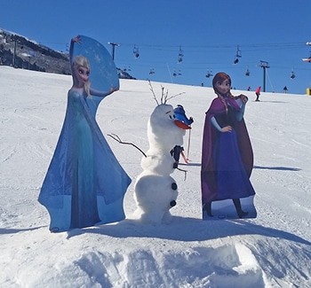 snowman building contest Nordic Valley ski snowboard family free